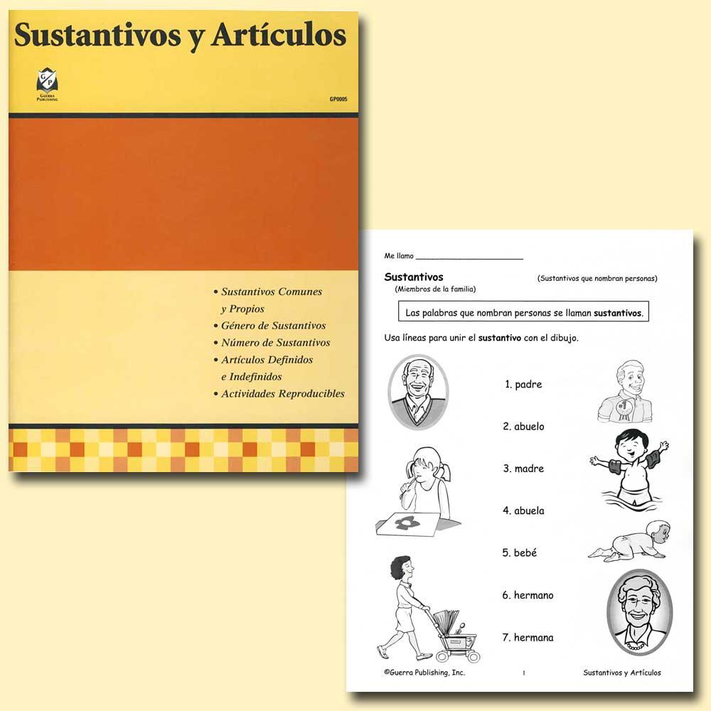 Sustantivos y Artículous Spanish Activity Book