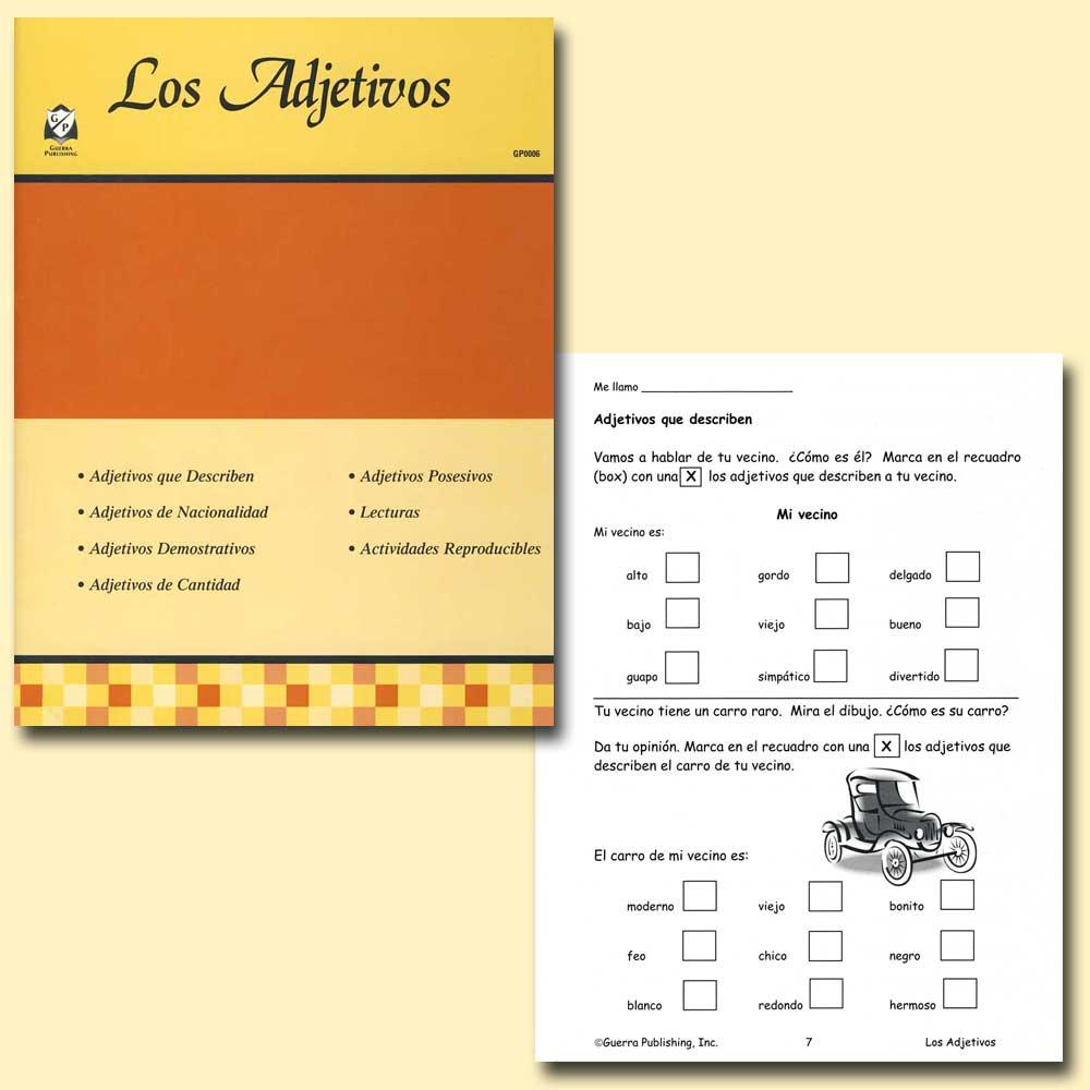 Los Adjetivos Spanish Activity Book