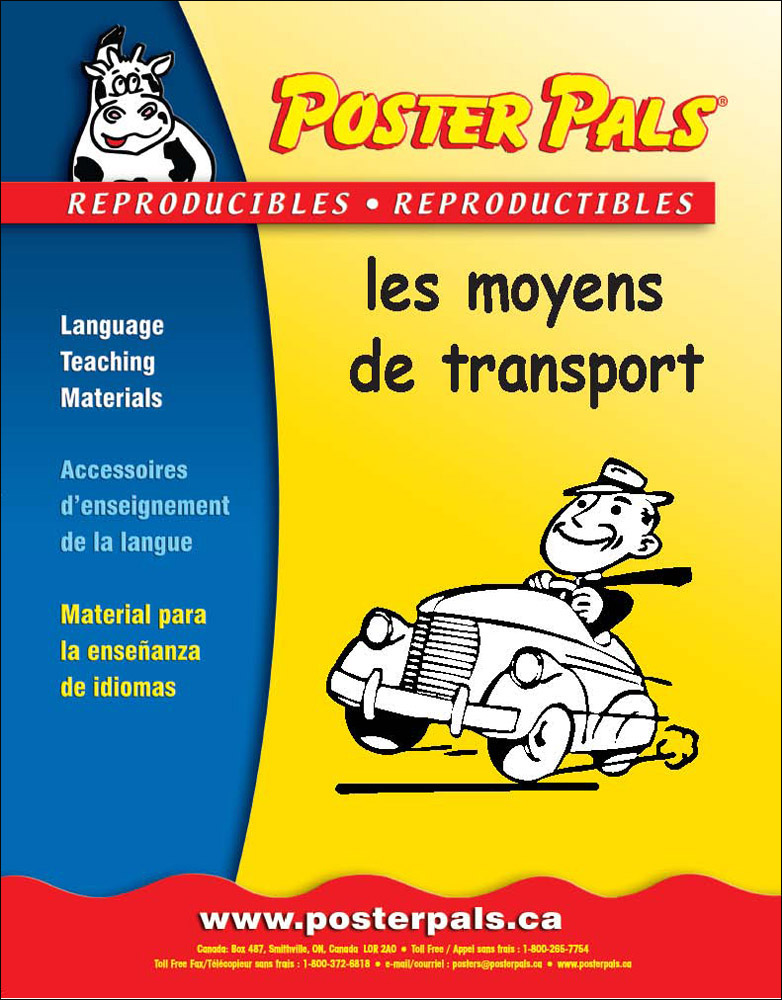 Think Kits: les moyens de transport French Reproducible Activity Book