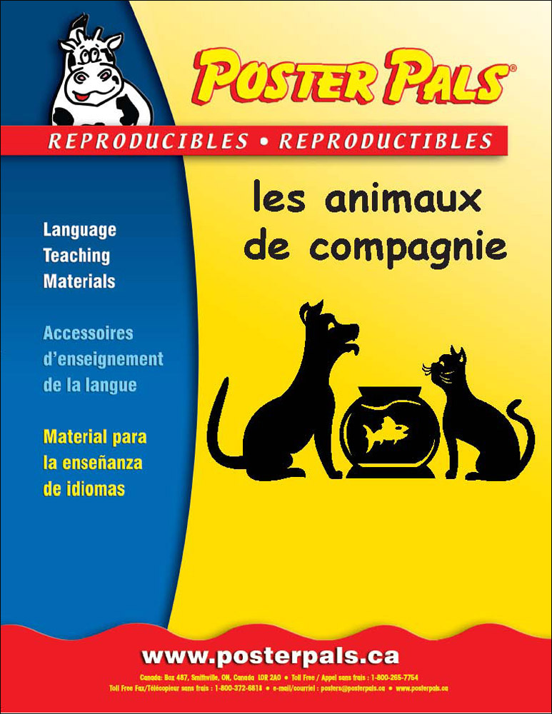 Think Kits: les animeaux de compagnie French Reproducible Activity Book