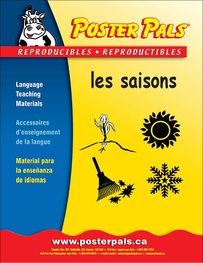 Think Kits: les saisons French Reproducible Activity Book