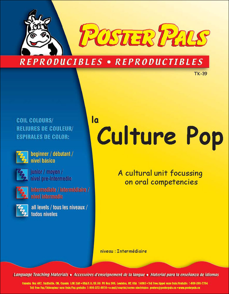 Think Kits: Culture Pop French Reproducible Activity Book