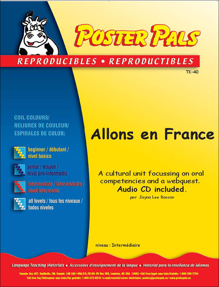 Think Kits: Allons en France French Reproducible Activity Book