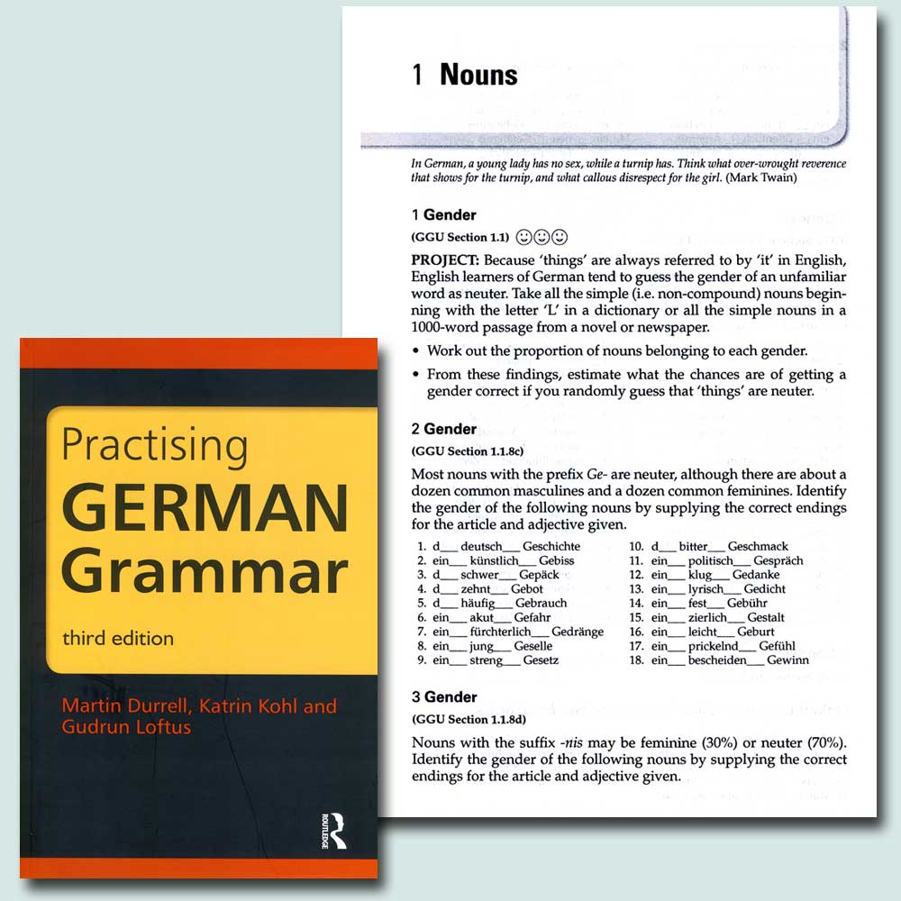 Practising German Grammar Book