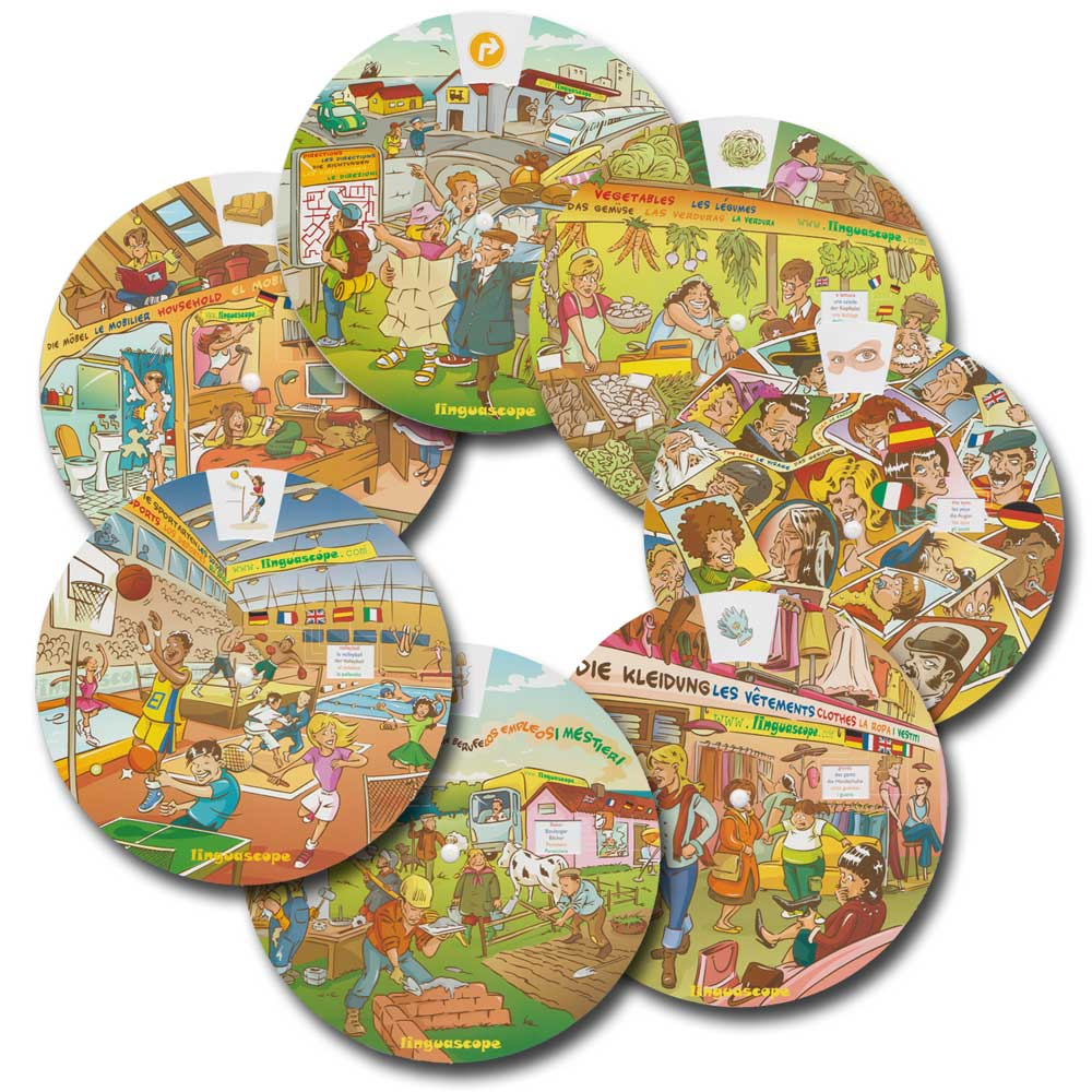 Multilingual Wheels Set of 7