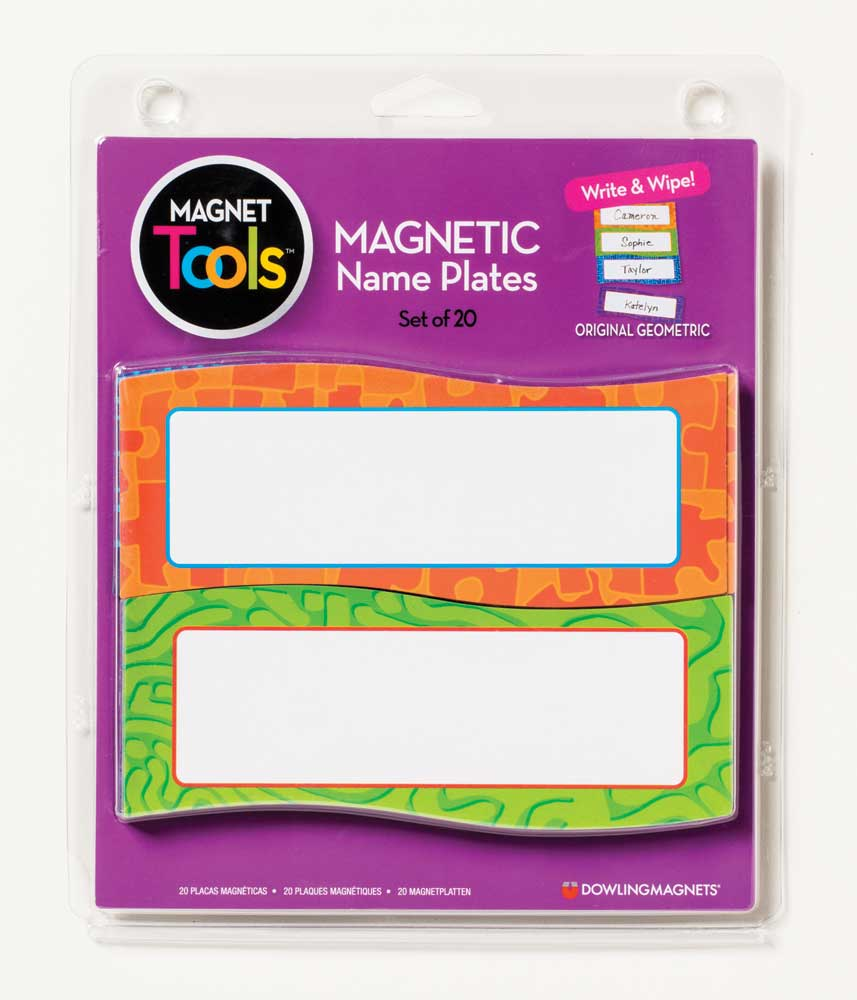 Dry-Erase Magnetic Name Plates Set of 20