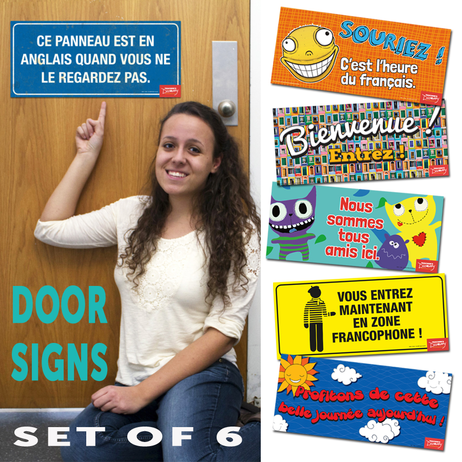 Door Signs French Set of 6