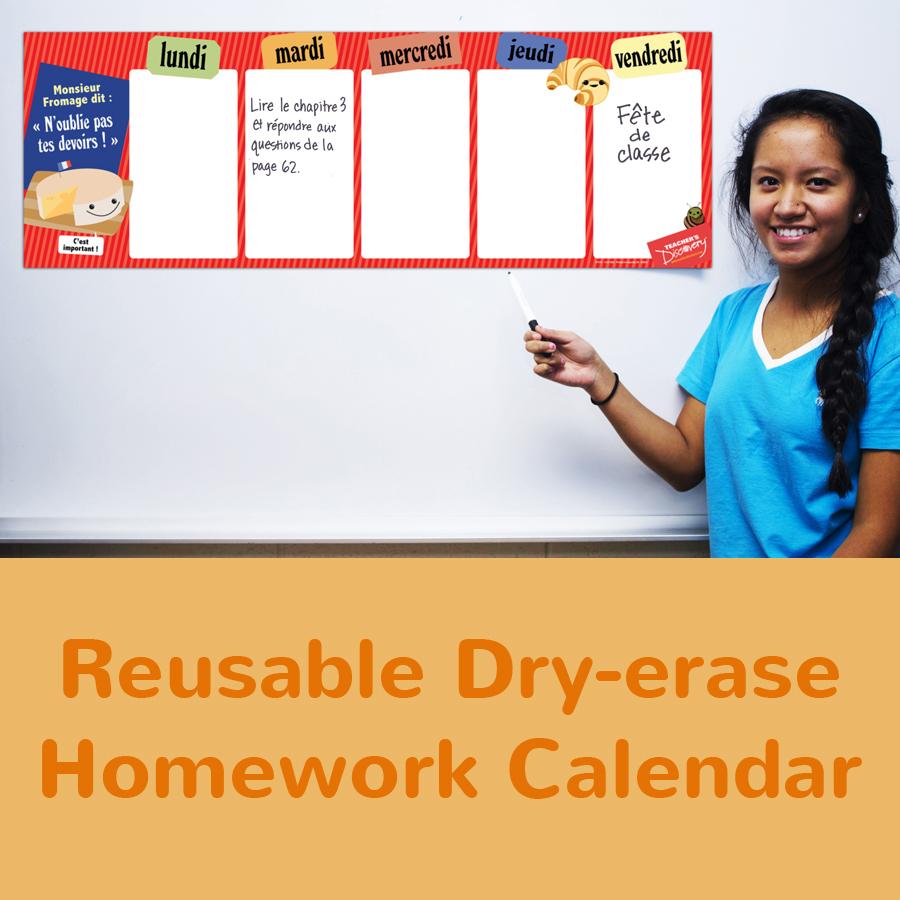 Week French Homework Chart