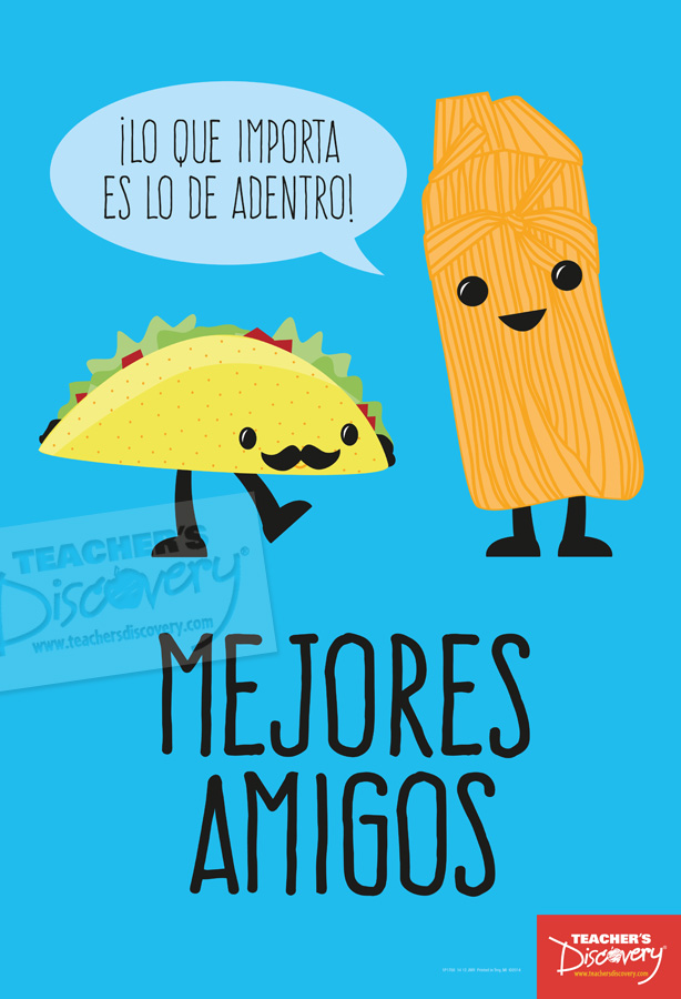 Taco and Tamale Best Friends Mini Poster