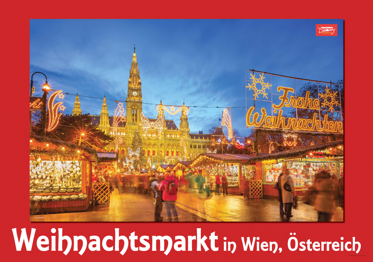 Austria's Weihnachtsmarkt Poster