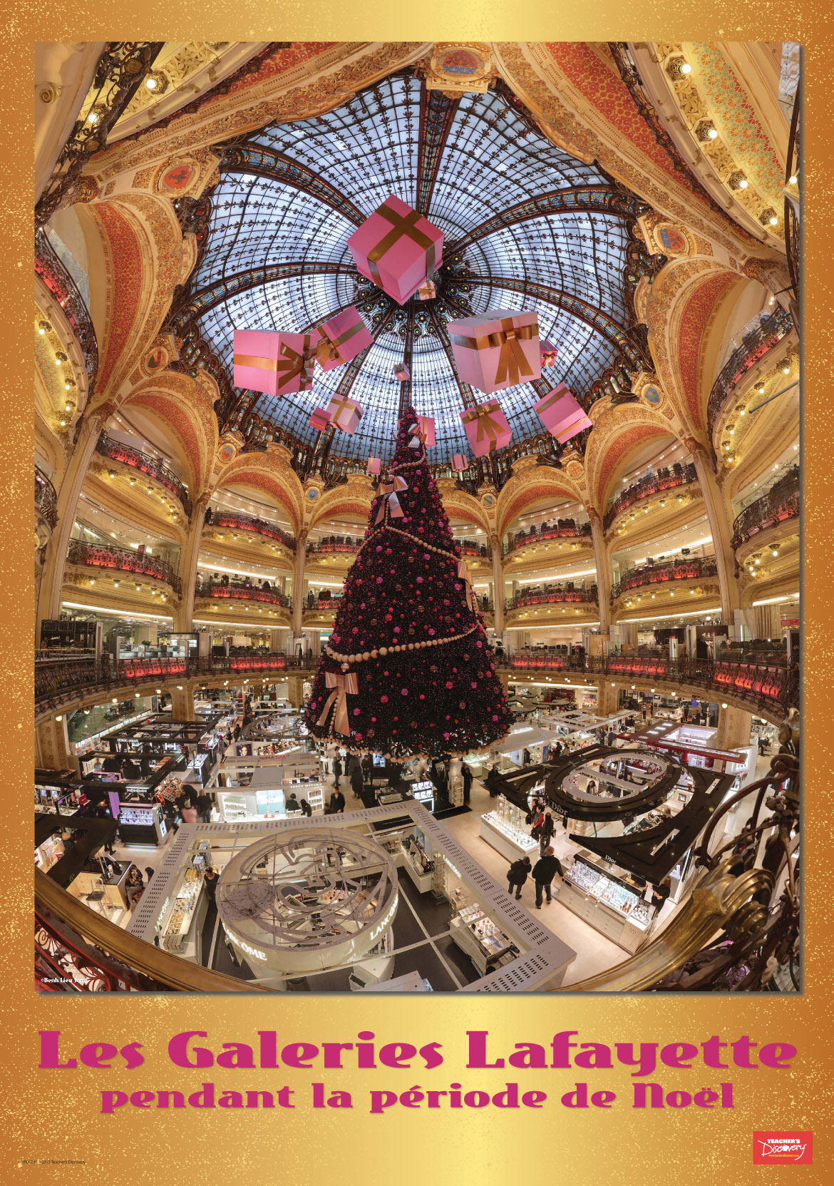 Les Galeries Lafayette at Christmas Poster