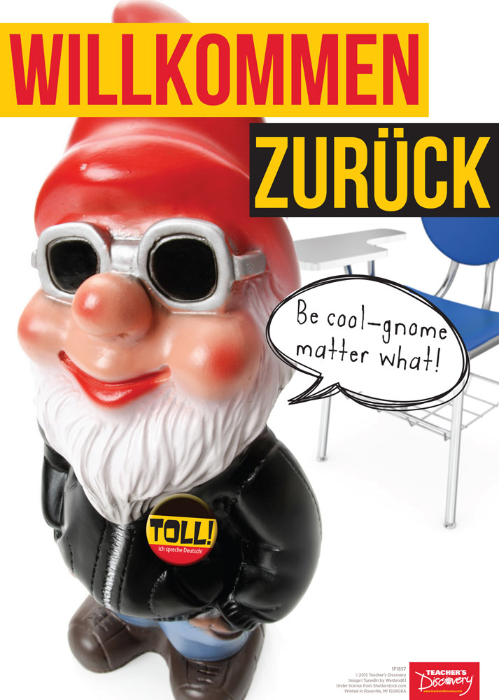 Welcome Back Gnome German Poster