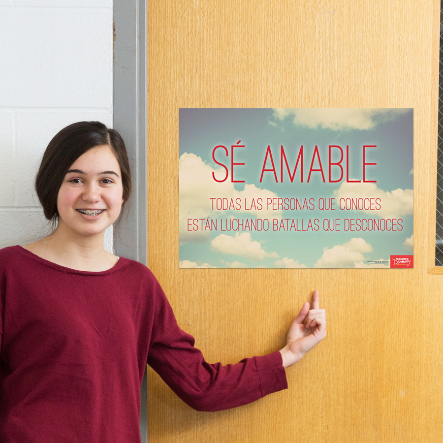 Be Kind Spanish Mini-Poster