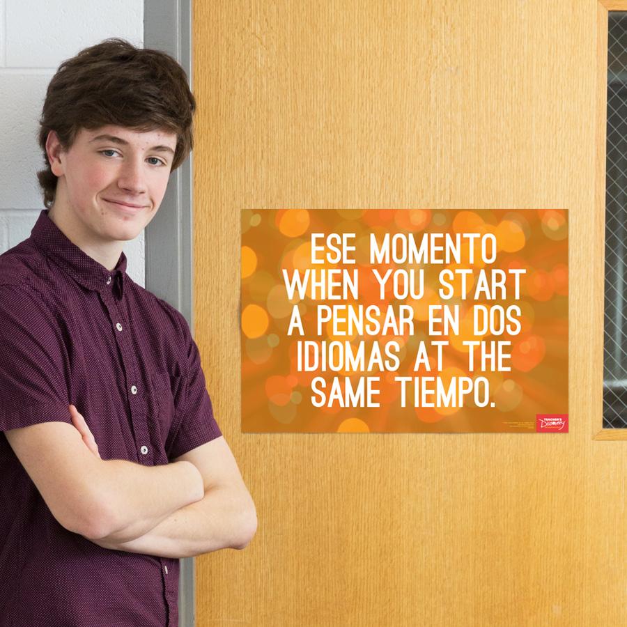 Two Languages Spanish Mini-Poster