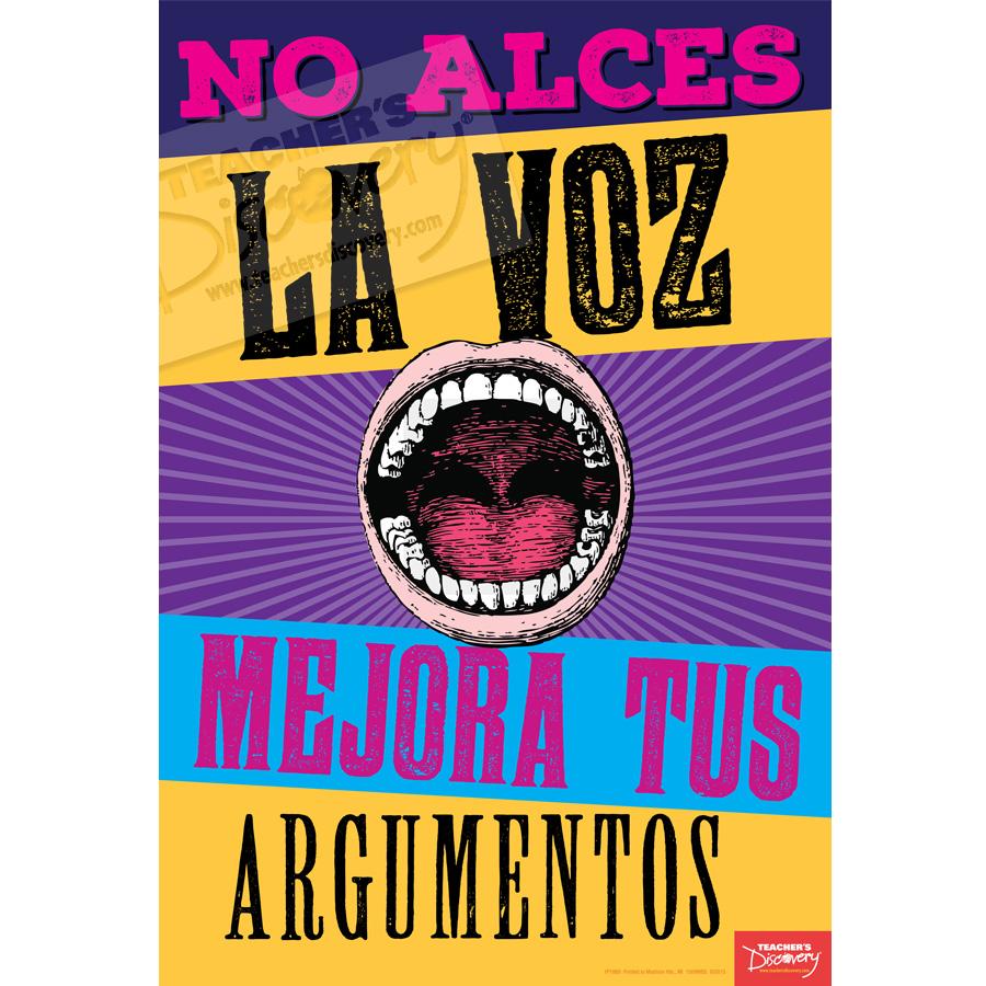 Improve Your Argument Spanish Mini-Poster