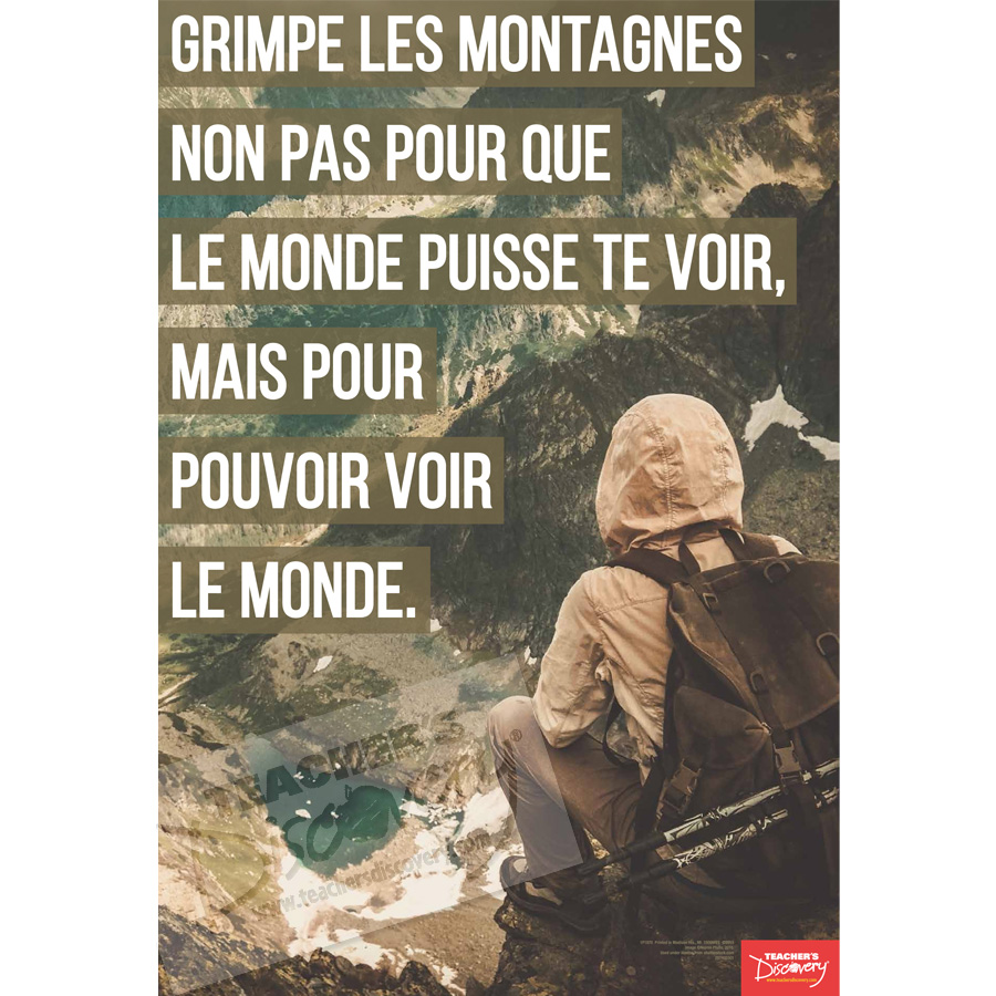 Climb Mountains French Mini-Poster