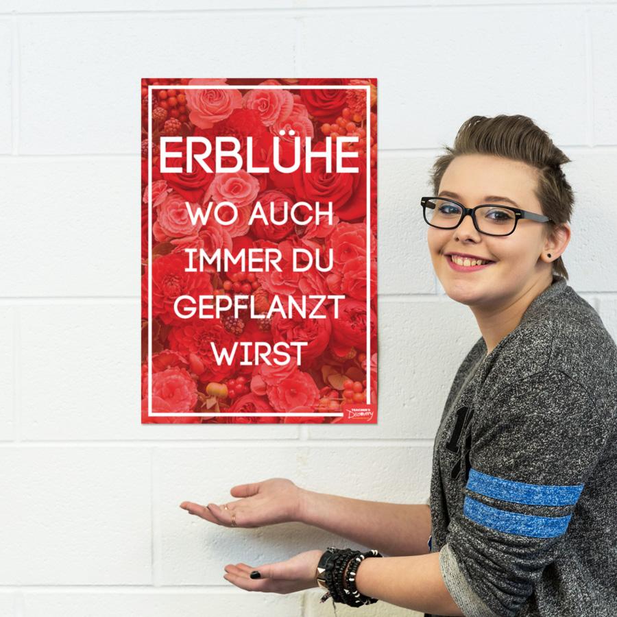 Bloom German Mini-Poster