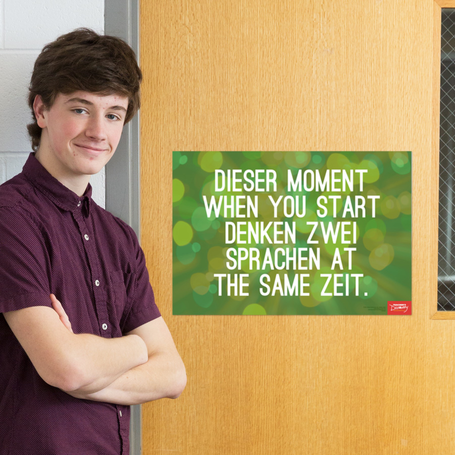Two Languages German Mini-Poster