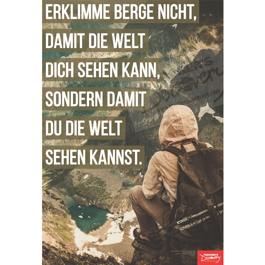 Climb Mountains German Mini-Poster