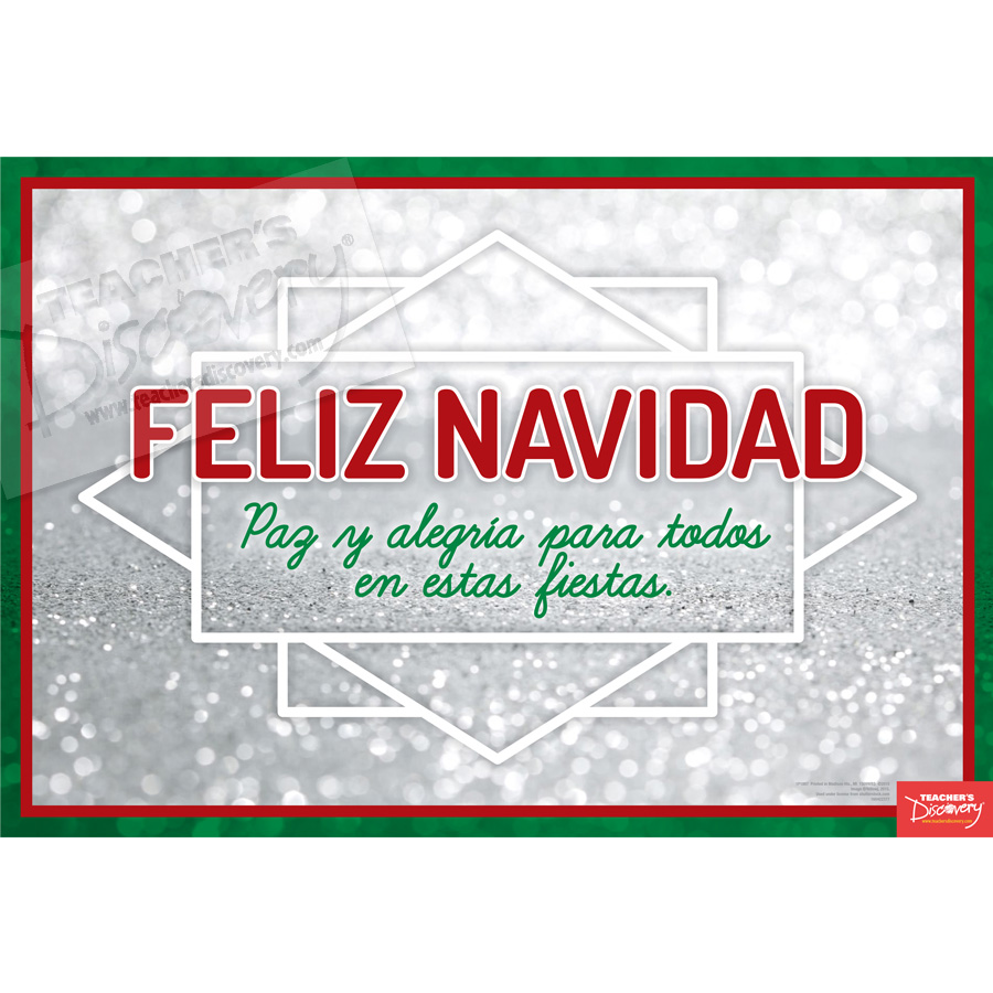 Merry Christmas Spanish Mini-Poster