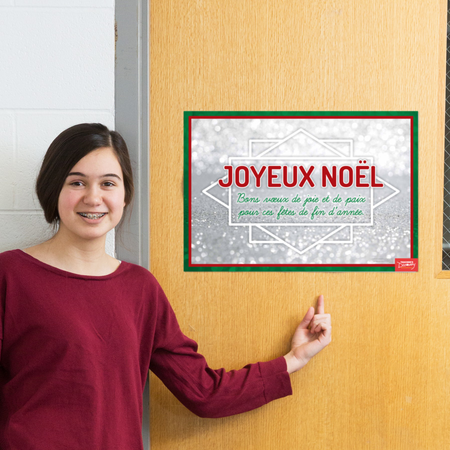 Merry Christmas French Mini-Poster
