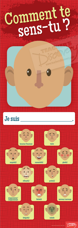 Emotions Face Skinny Poster French