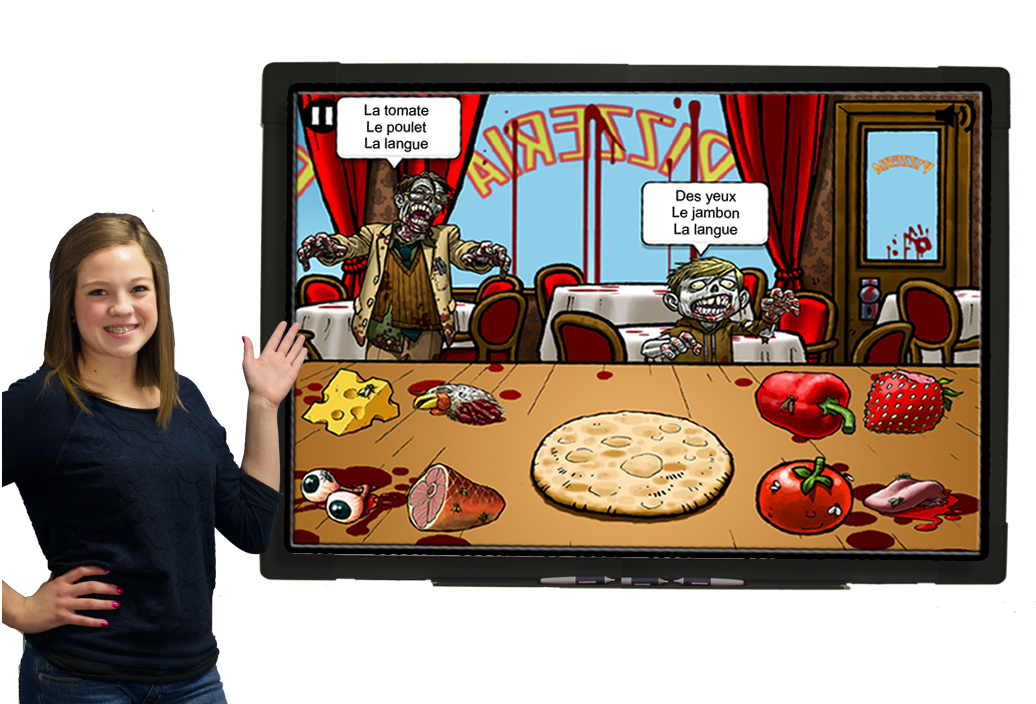 Zombie Feast French Food & Body Parts Vocab Game Download