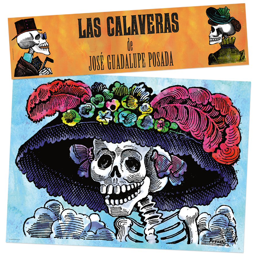 Posada's Calaveras Bulletin Board Set Spanish