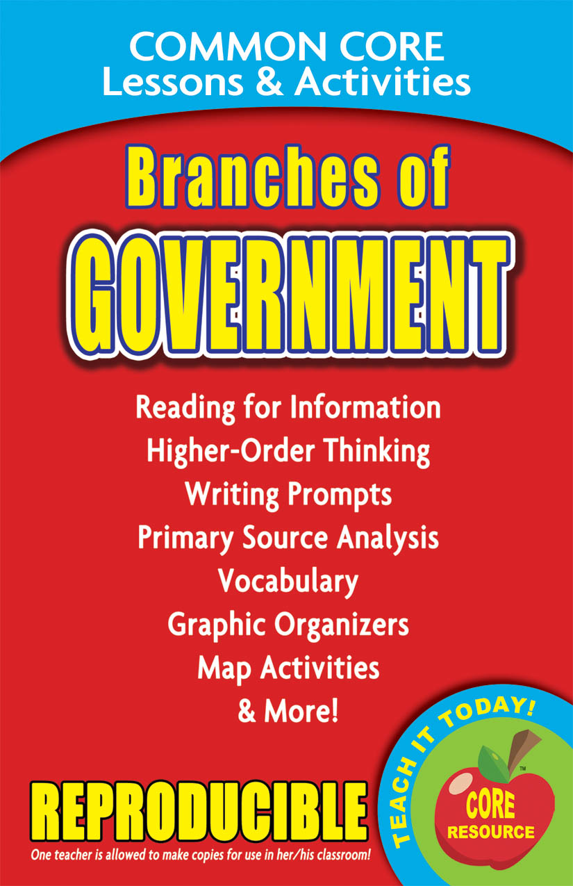 Branches of Government Common Core Lessons and Activities