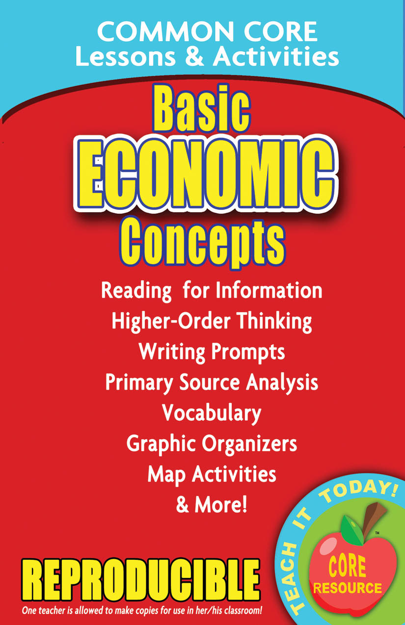 Basic Economic Concepts Common Core Lessons and Activities Book