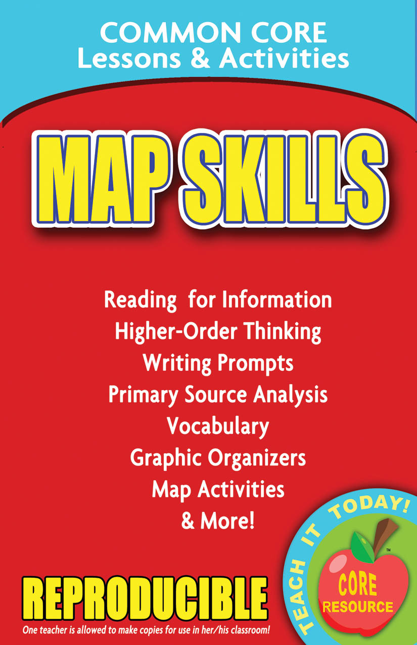 Map Skills Common Core Lessons and Activities Book
