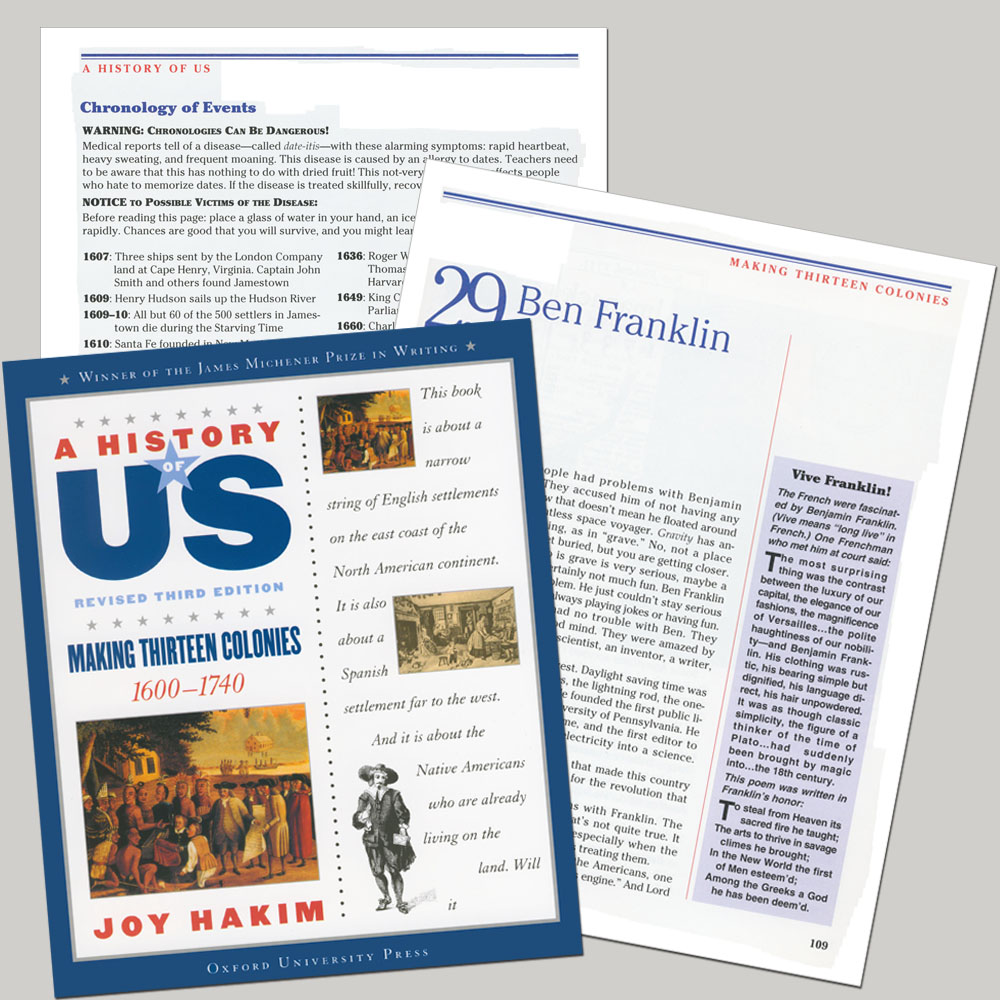 A History of US: Making Thirteen Colonies, 1600-1740