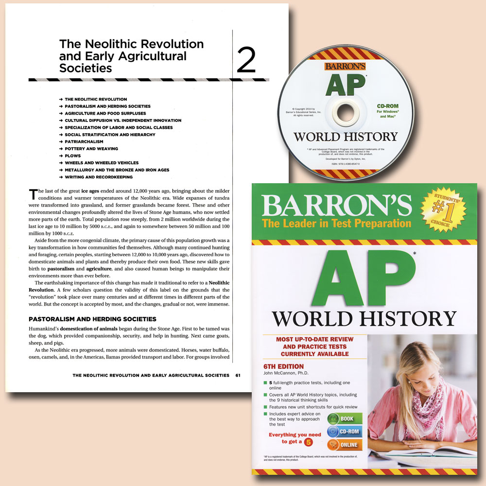 Barron's AP World History Book and CD