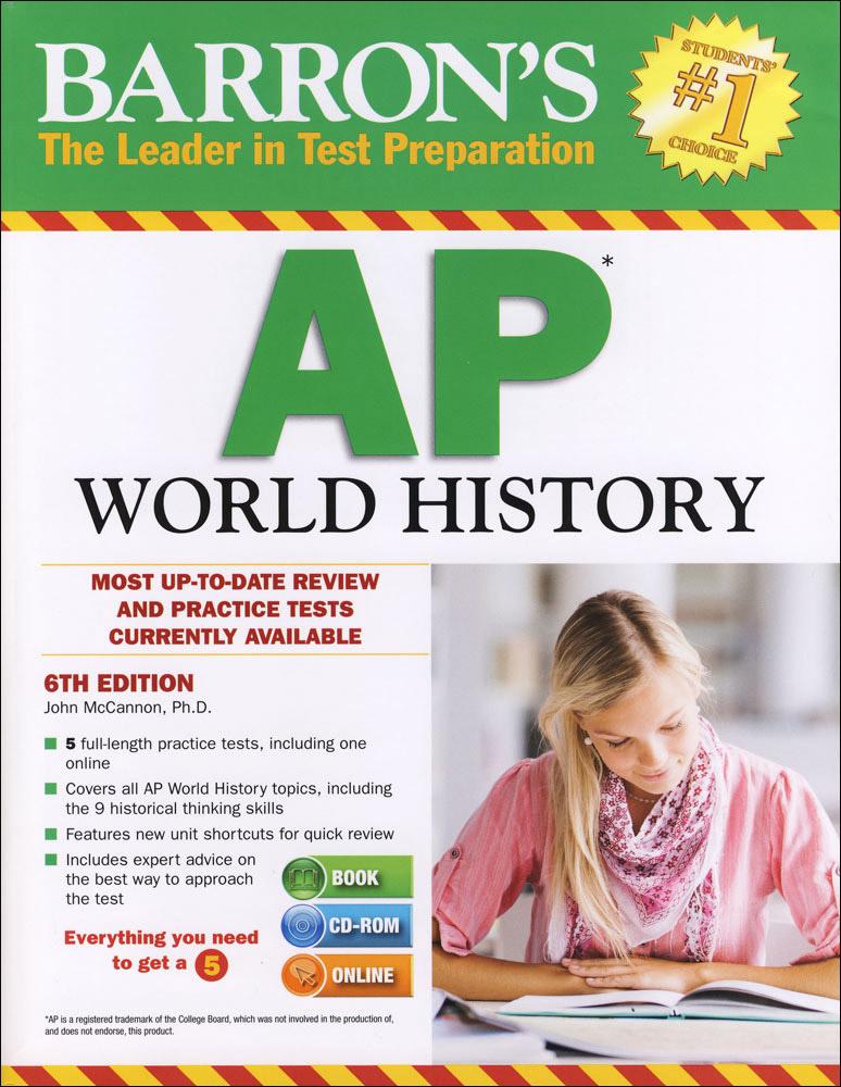 Barron's AP World History Book and CD