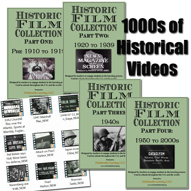 Historic Film Collection Part 1-4 DVD Set
