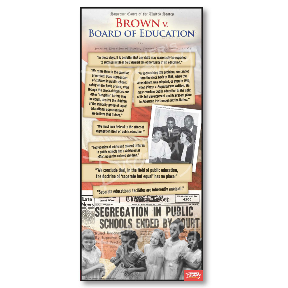 Brown vs. Board of Education Document Poster