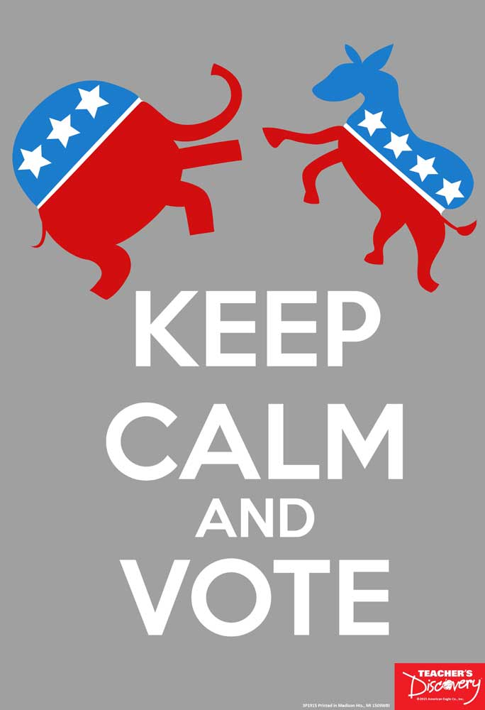 Keep Calm and Vote Mini-Poster