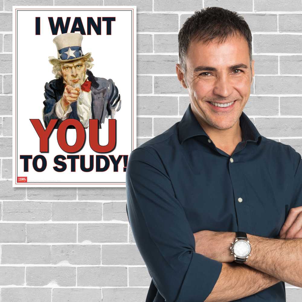 I Want You to Study Mini-Poster