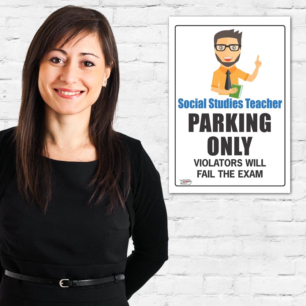 Teacher Parking Only Mini-Poster