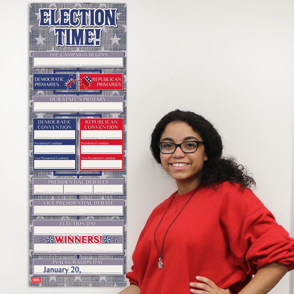 Election Time Dry-Erase Chart