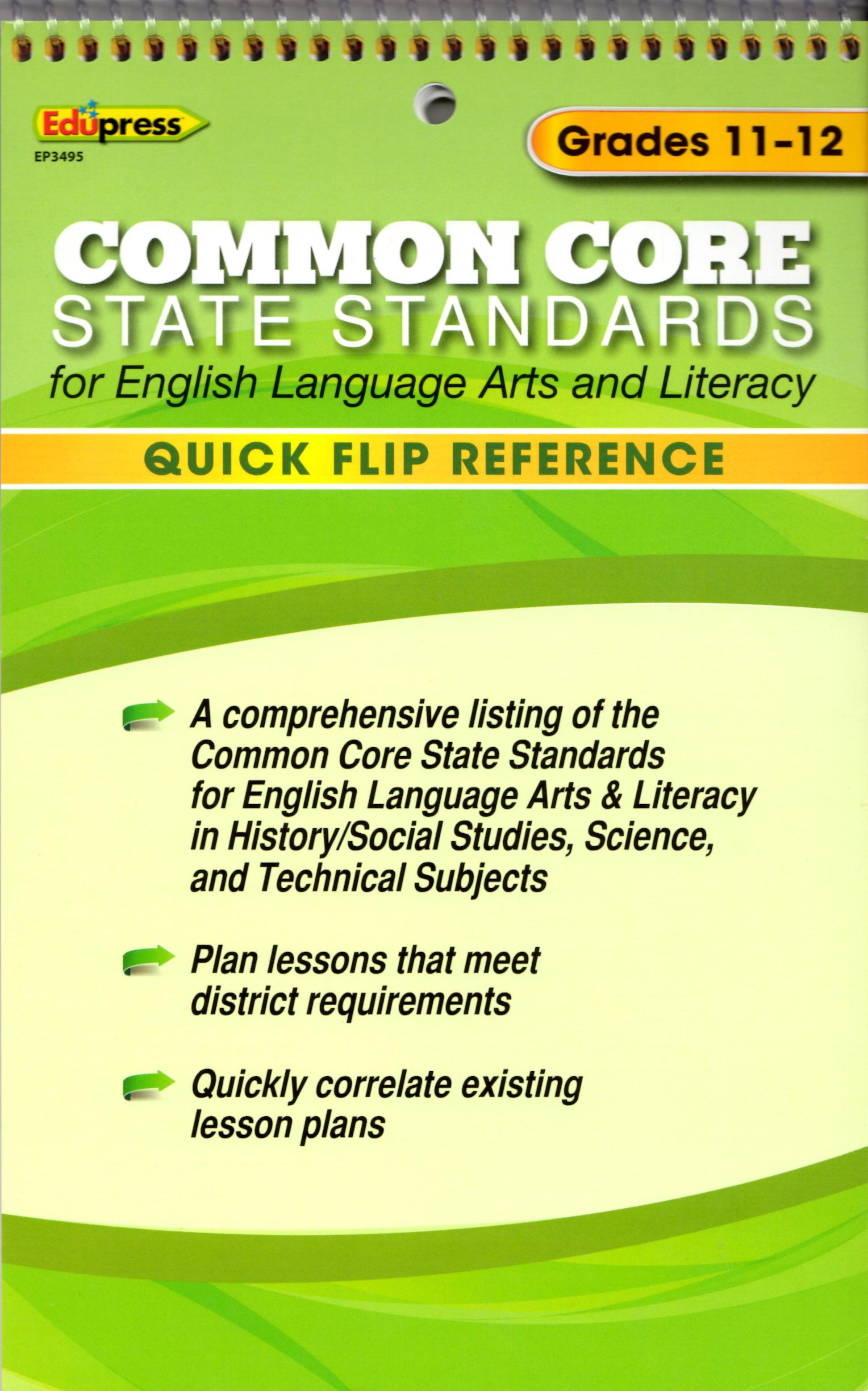 Common Core State Standards Grades 11-12 Flip Chart