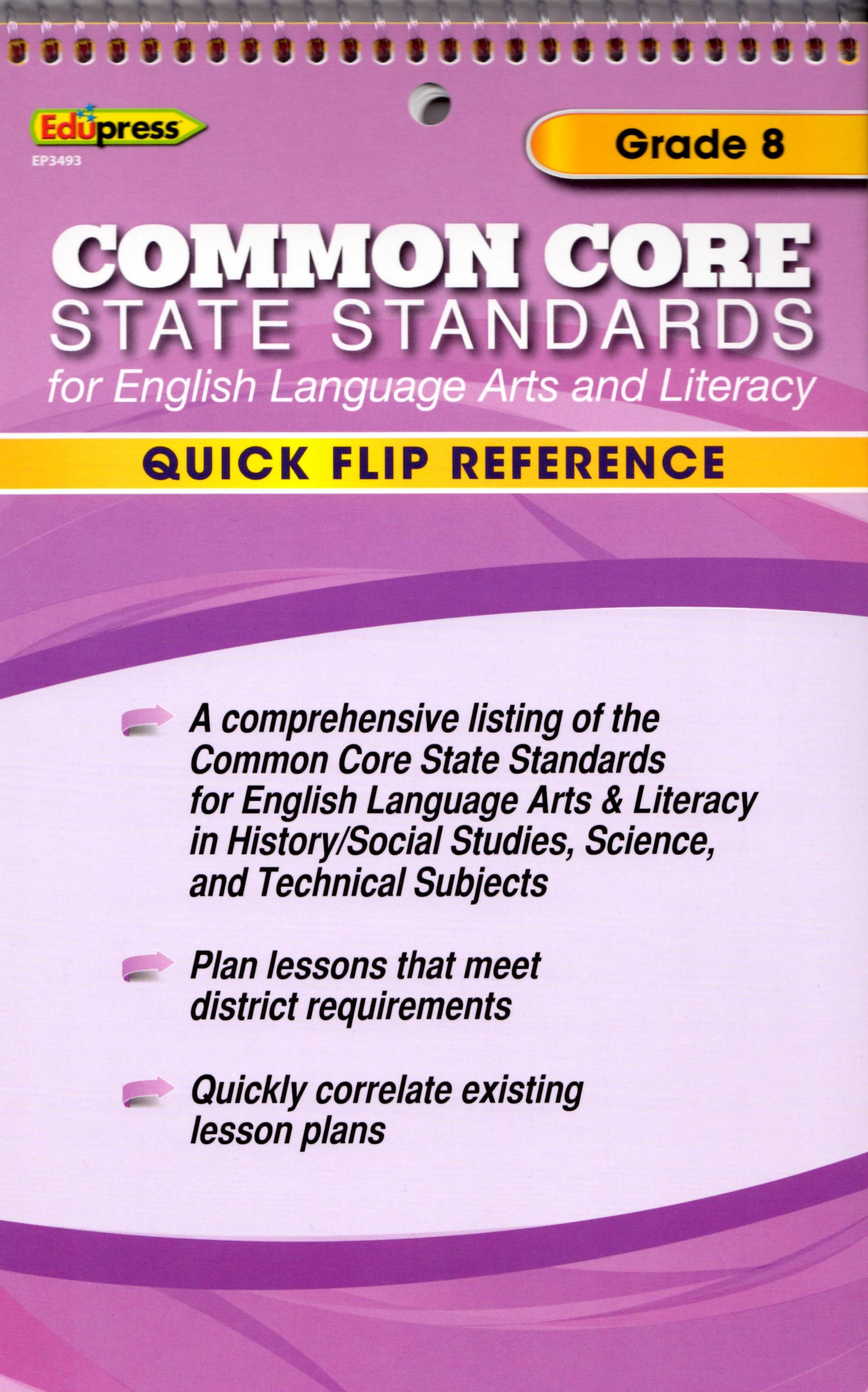 Common Core State Standards Grade 8 Flip Chart