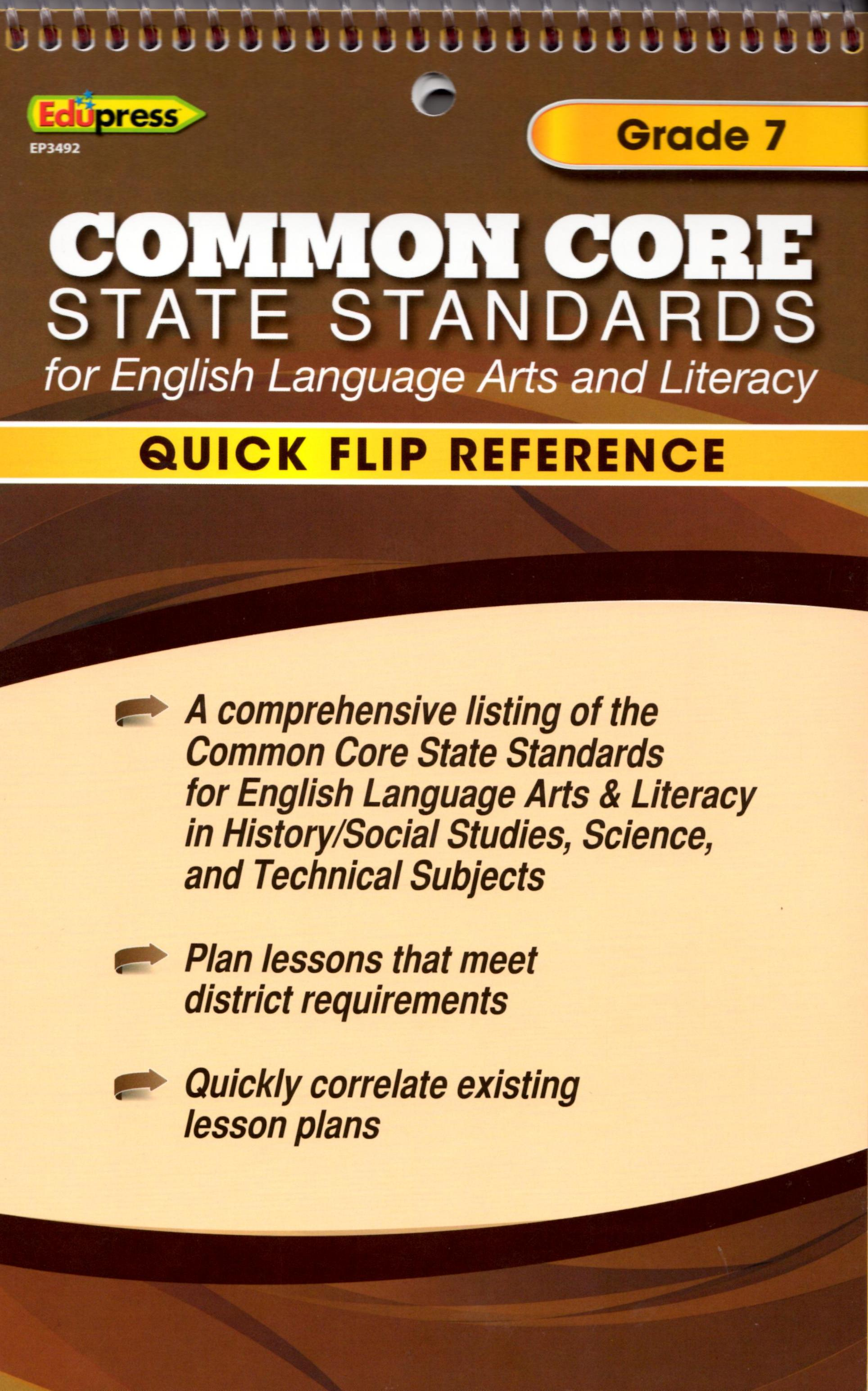 Common Core State Standards Grade 7 Flip Chart