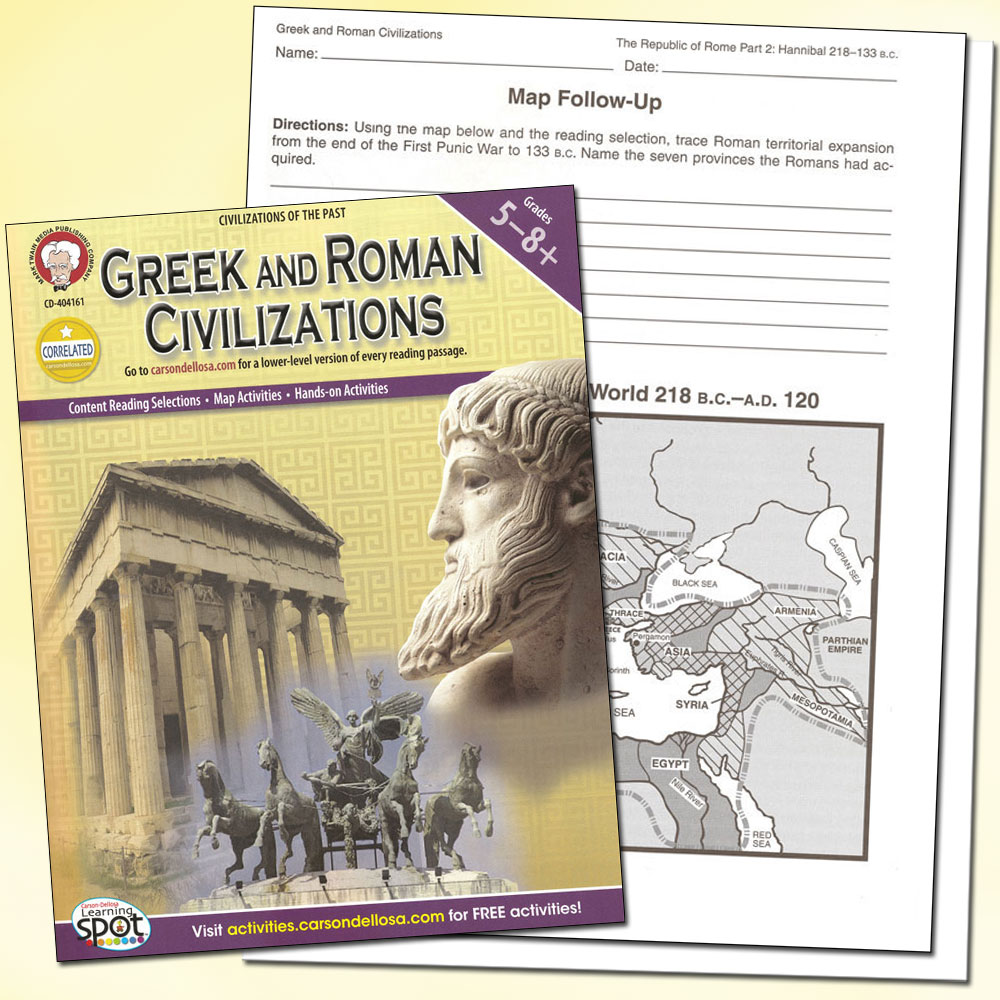greek and roman civilizations They first came into contact with the greeks in about 500 bc by 146 bc part of  greece had become a province of the roman empire and by.