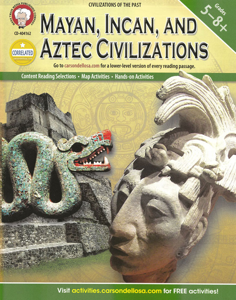 Mayan, Incan, and Aztec Civilizations Activity Book