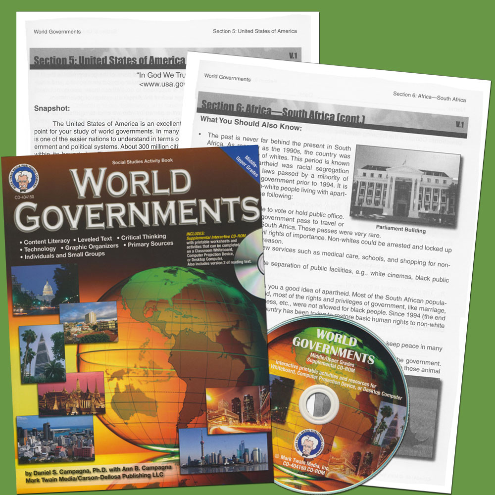 World Governments Book & CD