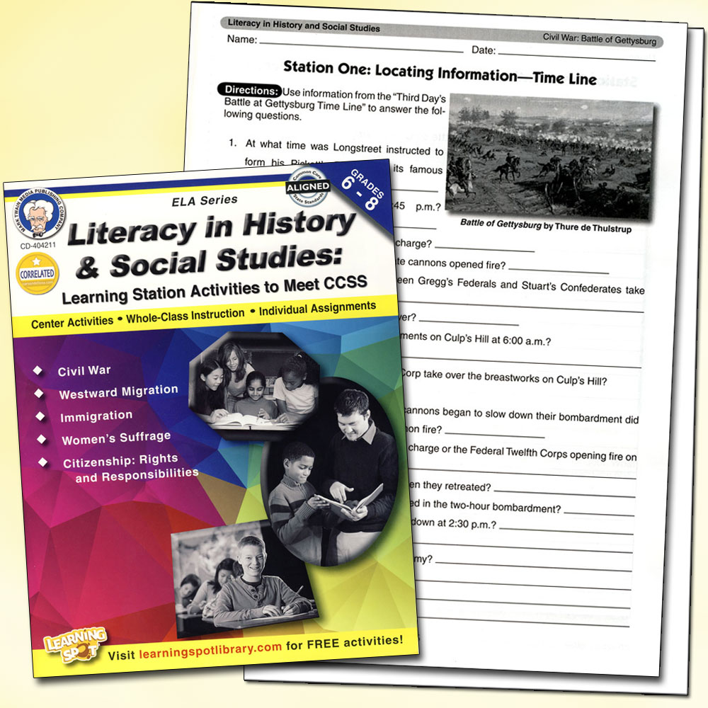 Literacy in History and Social Studies Grades 6-8 Book