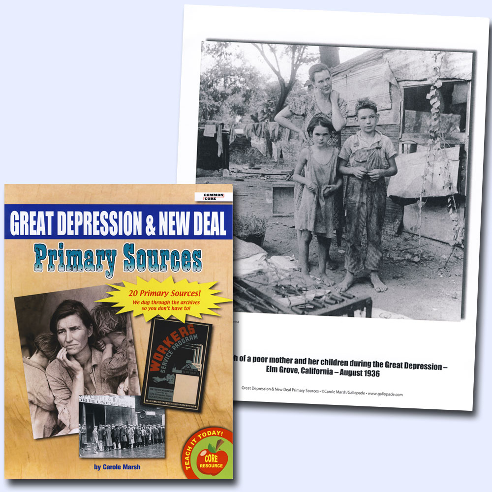 Great Depression and New Deal Primary Source Document Set