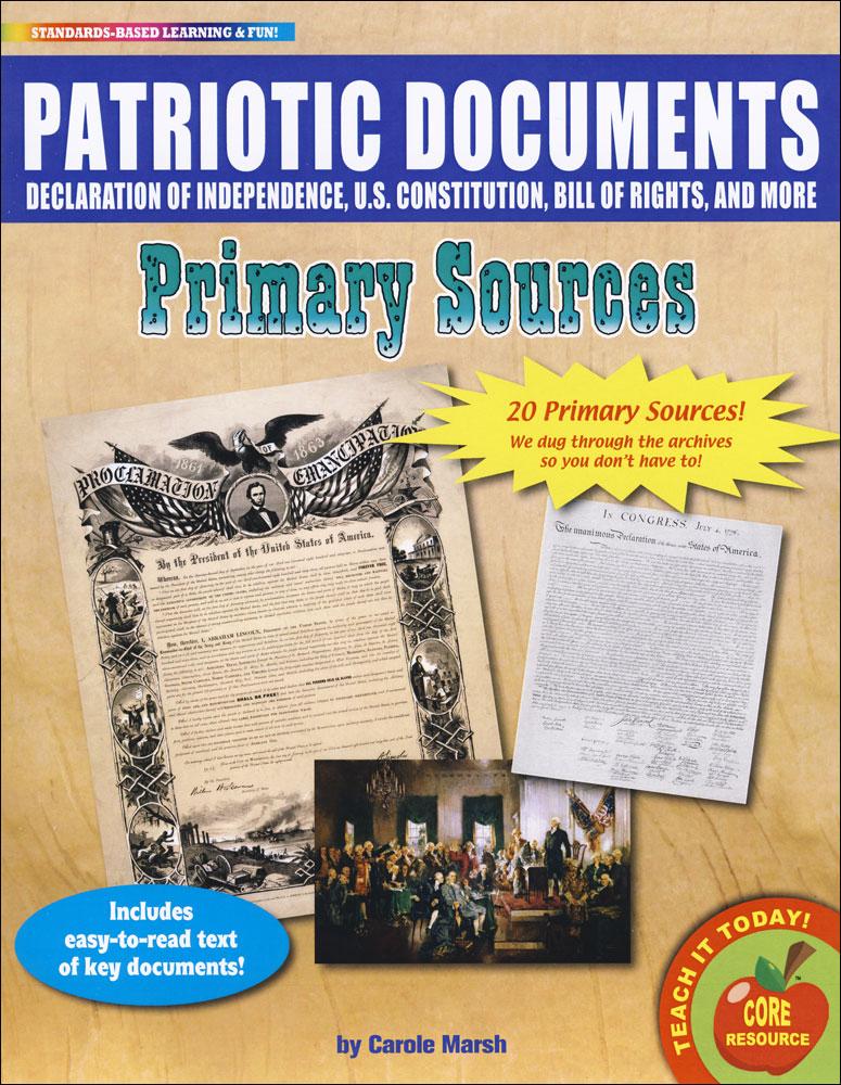 Patriotic Documents Primary Source Document Set