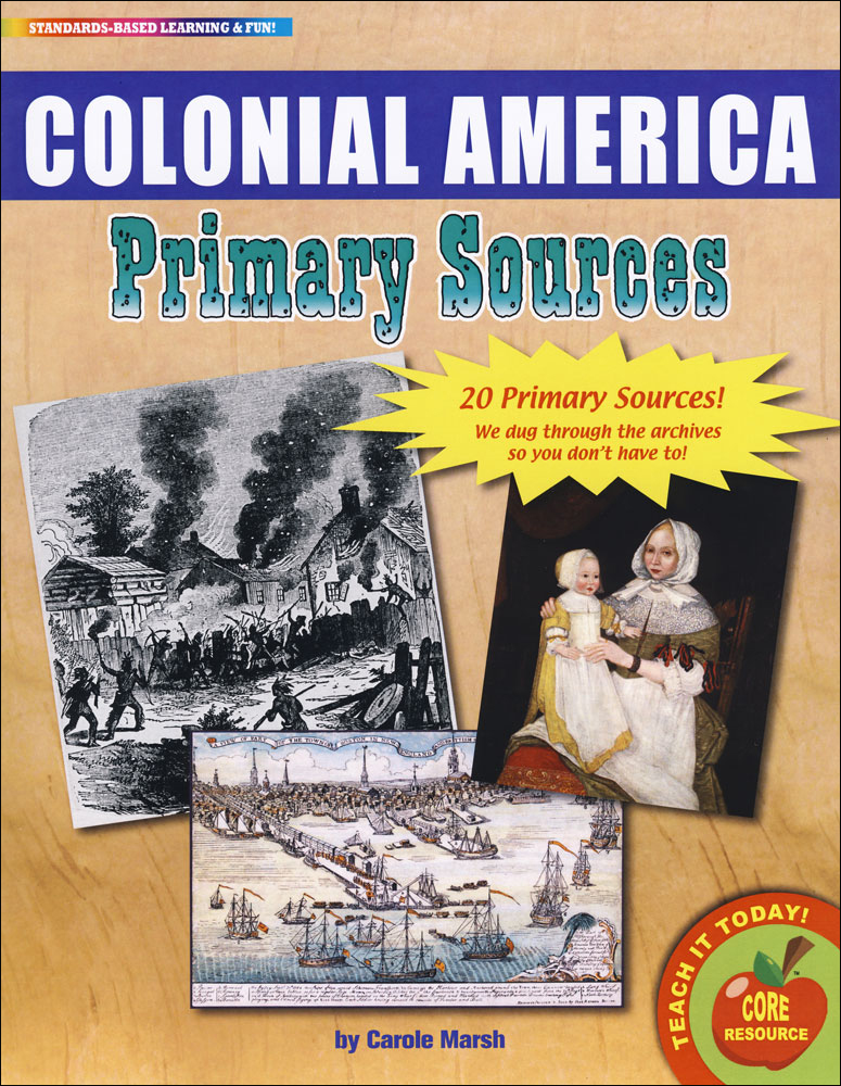Colonial America Primary Source Document Set